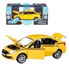 Машина металл «Lada Такси» 1:24, инерция, цвет жёлтый, открываются двери, капот и багажник, световые и звуковые эффекты - Фото 1