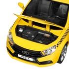Машина металл «Lada Такси» 1:24, инерция, цвет жёлтый, открываются двери, капот и багажник, световые и звуковые эффекты - Фото 2