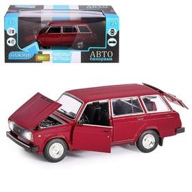 Машина металл «ВАЗ 2104» 1:24, инерция, цвет бордовый, открываются двери, капот и багажник