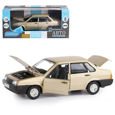Машина металлическая «ВАЗ 21099» 1:22, инерция, цвет золотой, открываются двери, капот и багажник - Фото 1