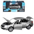 Машина метал «Lаda Vesta седан», 1:24, цвет серый, открываются двери, капот и багажник, световые и звуковые эффекты - Фото 1