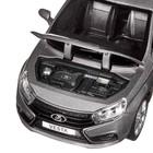 Машина метал «Lаda Vesta седан», 1:24, цвет серый, открываются двери, капот и багажник, световые и звуковые эффекты - Фото 2