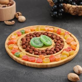 Блюдо для подачи «Гипноз», 25×25×1,5 см, бамбук