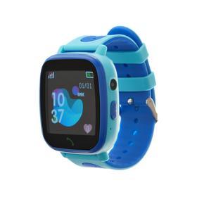 Смарт-часы Prolike PLSW11BL, детские, цветной дисплей 1.44', IP67, 400 мАч, голубые Ош