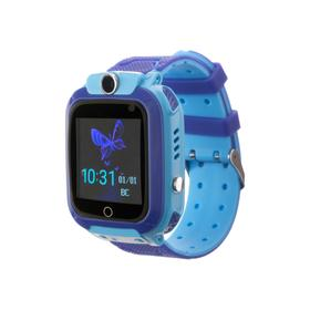Смарт-часы Prolike PLSW12BL, детские, цветной дисплей 1.44', IP67, 400 мАч, голубые Ош