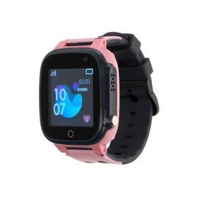 Смарт-часы Prolike PLSW15PN, детские, цветной дисплей 1.44', 400 мАч, розовые Ош