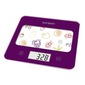 Весы кухонные Oursson KS0501GD/SP, электронные, до 5 кг, сенсор, 1хCR2032, фиолетовые