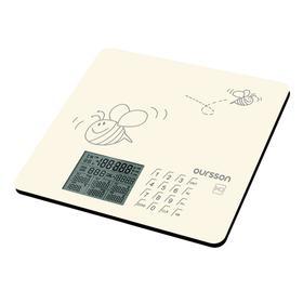 Весы кухонные Oursson KS0502GD/IV, электронные, до 5 кг, сенсор, 1хCR2032, бежевые