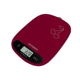 Весы кухонные Oursson KS0504PD/DC, электронные, до 5 кг, сенсор, 1хCR2032, бордовые