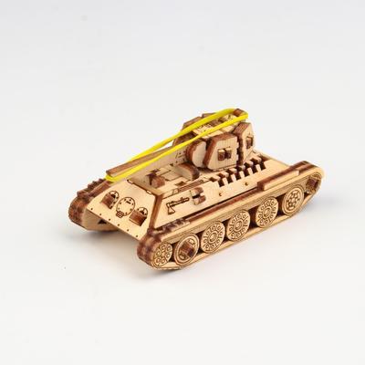"""Деревянный конструктор """"UNIT Танк Т-34"""" - Фото 1"""