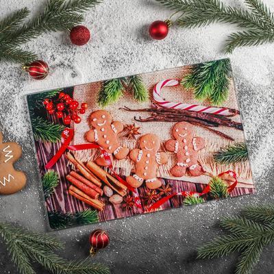 Доска разделочная Доляна «Новогодняя суета», 30×20 см