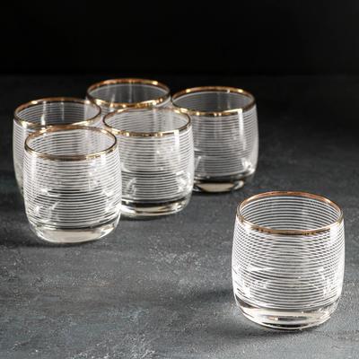 Набор стаканов Декостек «Спираль», 330 мл, 6 шт