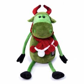 Мягкая игрушка «Корова Каролина в вязаном шарфе», 27 см