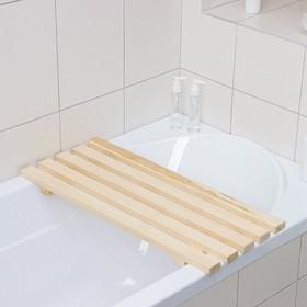 Решётка-трапик для бани и ванны малый 70×30×4 см, осина, сорт А Ош