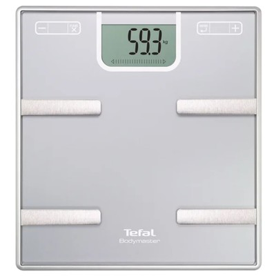Весы Tefal BM6010, диагностические, шаг 100 гр, до 160 кг, ААА, память, серебристые - Фото 1