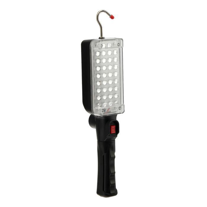 Светильник переносной автономный, от батареек 2*18650 (в компл.), 34LED, 6500К, бел. свет