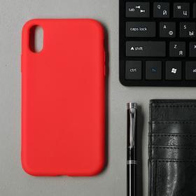 Чехол для iPhone Xr,TPU, красный Ош