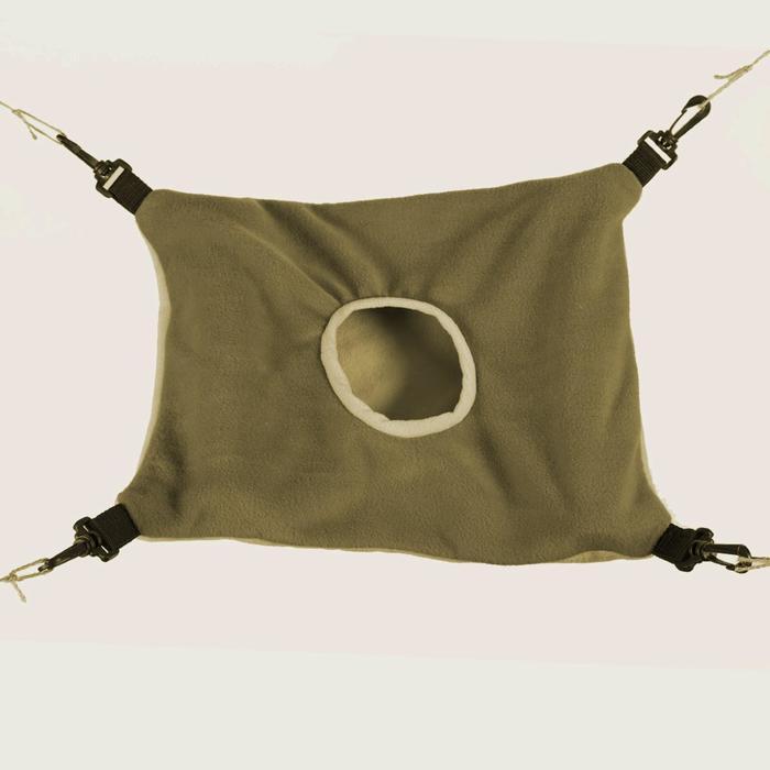 Гамак Osso для хорьков из флиса большой с карманом, размер 44 х 33, хаки