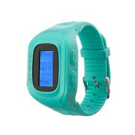 Смарт-часы Jet KID NEXT, детские, дисплей 0.64', SIM-карта, GPRS, BT, бирюзовые Ош