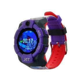 Смарт-часы Jet KID Megatron vs Optimus Prime, детские, цветной дисплей 1.44', фиолетовые Ош