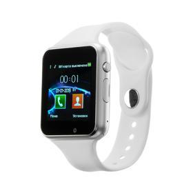 Смарт-часы Jet PHONE SP1, цветной дисплей 1.54', Bluetooth 4.0, камера, серебристые Ош