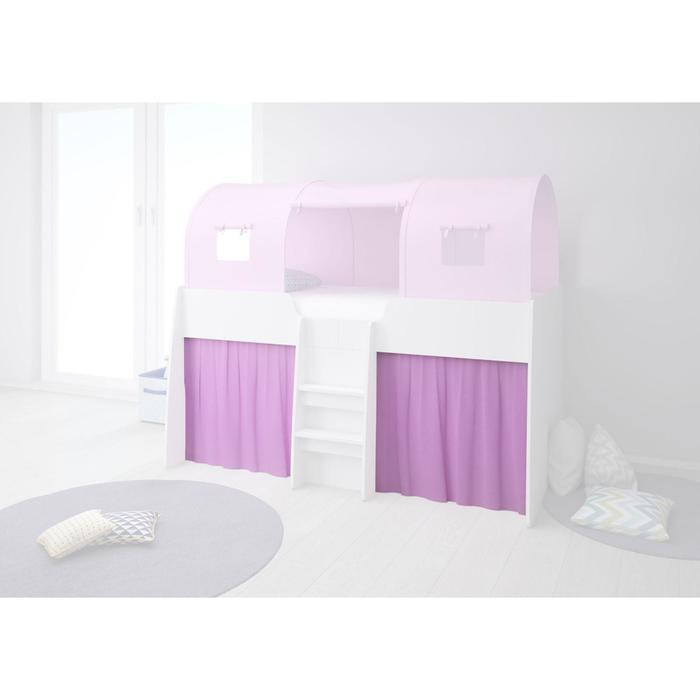 Шторки для кровати-чердака Polini kids Simple 4100, цвет розовый