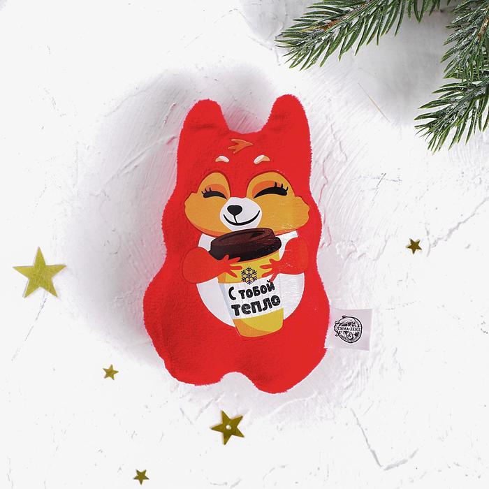 Мягкая игрушка-магнит С тобой тепло