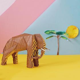 """Деревянный конструктор """"Слон"""", с набором карандашей"""