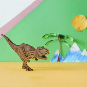 """Деревянный конструктор """"Тираннозавр"""", с набором карандашей"""