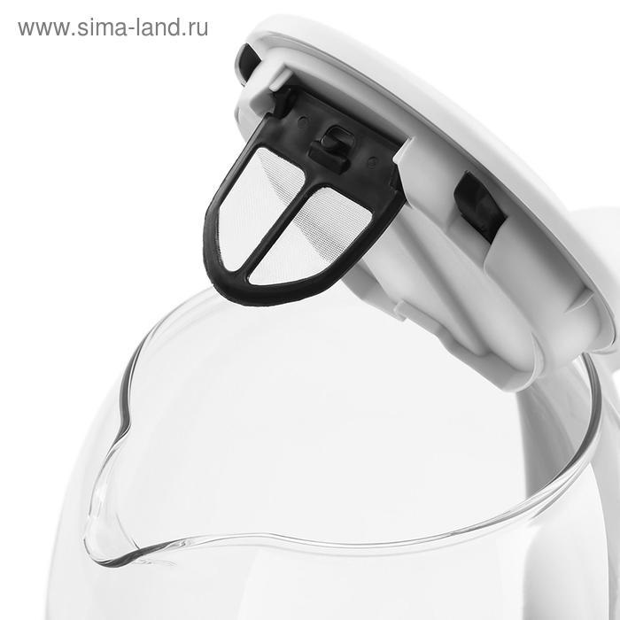 Чайник электрический Kitfort KT-640-3, 2200 Вт, 1.5 л, стекло, регулировка t°, серый