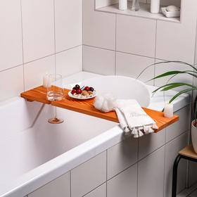 """Полка для ванной """"Для вина"""" накладная, сосна, 80×20×2 см"""
