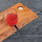 Столик на ванну деревянный, накладная, с вырезом для гаджетов, ясень, 80х20х2 см - Фото 4