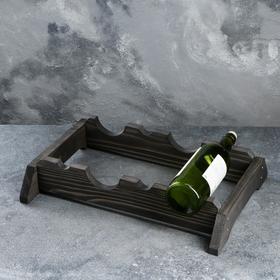 """Подставка для вина настольная """"Свенсон"""", тёмная, 40×31×9 см"""