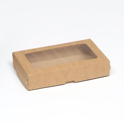 Контейнер на вынос, крафт, 20 х 12 х 4 см - Фото 1