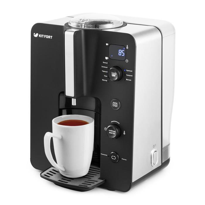 Автоматическая чаеварка Kitfort KT-630, 2.2 л, 2200 Вт, 5 программ, чёрная