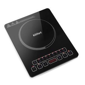 Плитка индукционная Kitfort KT-116, 1600 Вт, 8 программ, 8 режимов, таймер, чёрная
