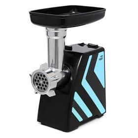 Мясорубка электрическая Kitfort KT-2101-1, 1500 Вт, 1.2 кг/мин, 4 насадки, реверс, голубая