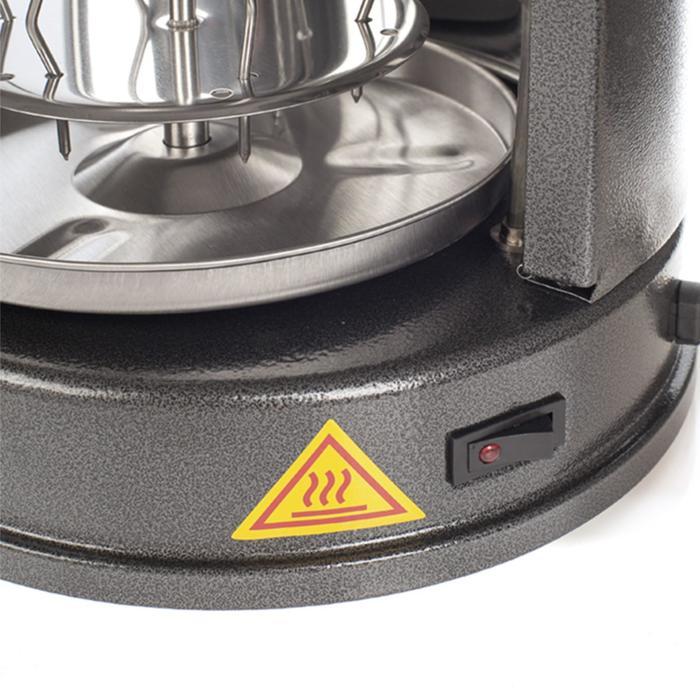 Электрошашлычница Kitfort KT-1404, 1400 Вт, 7 шампуров, серебристая