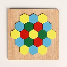 Головоломка «Строй фигуры и узоры», шестиугольники Ош
