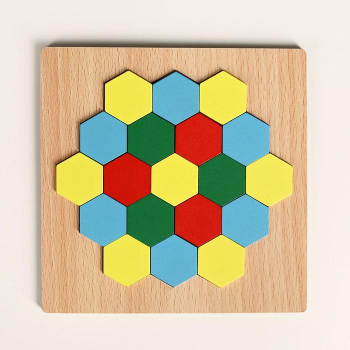 Головоломка Строй фигуры и узоры, шестиугольники