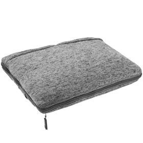 Дорожный плед onBoard, размер 82x140 см, цвет серый меланж