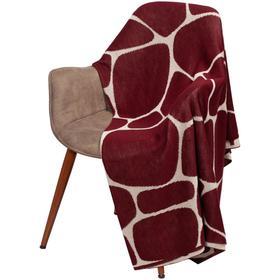 Плед Giraffe, размер 140x200 см, цвет бежевый, бордовый