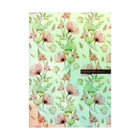 Еженедельник А5, 96 страниц, обложка мелованный картон 'Цветочный принт' Ош