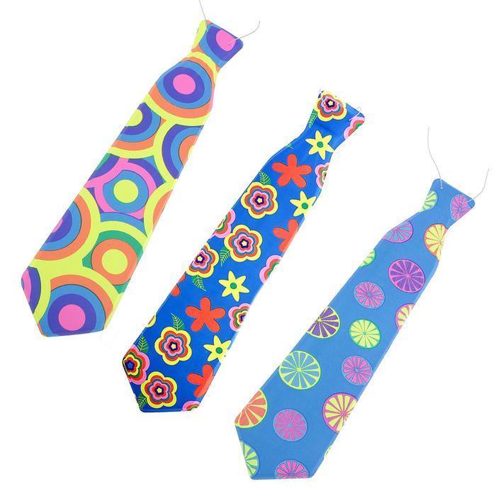 Карнавальный галстук Летний, набор 6 шт., виды МИКС