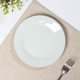 Тарелка обеденная Доляна «Моника», d=19 см, цвет белый