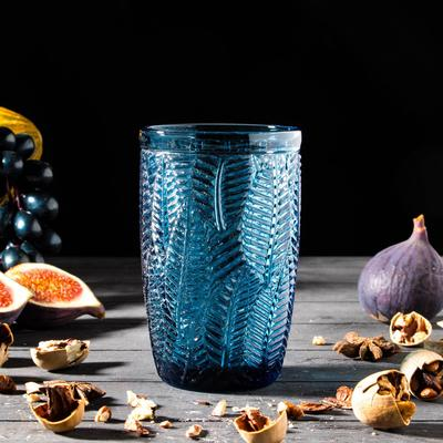 Стакан «Флорин», 350 мл, 8×8×12,5 см, цвет синий