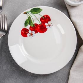 Тарелка мелкая «Вишенка», d=17,5 см