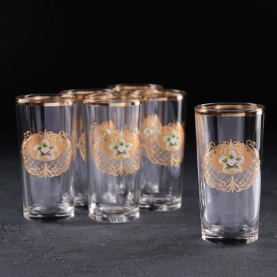 Набор стаканов высоких «Магнолия», 230 мл, с отводкой, 6 шт