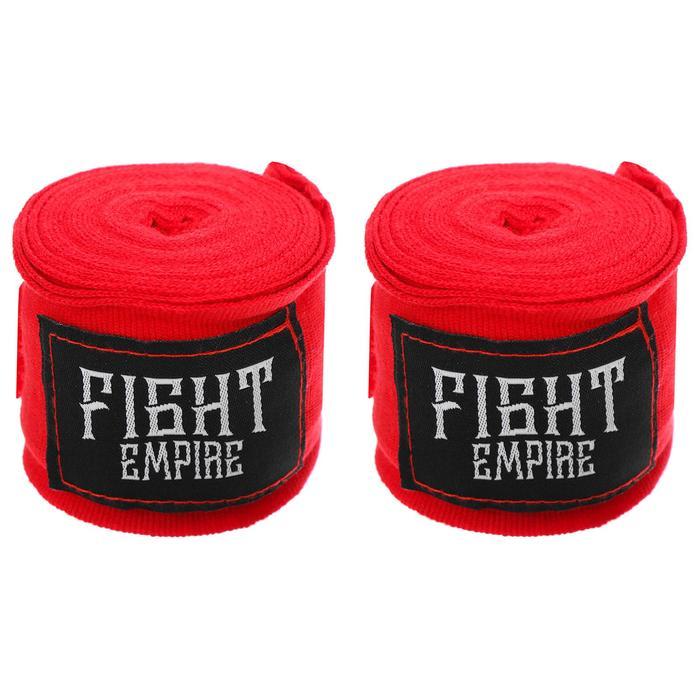 Бинты боксёрские эластичные FIGHT EMPIRE 3 м, цвет красный