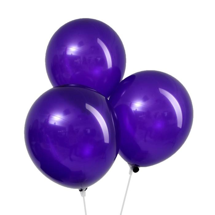 Шар латексный 12, пастель, набор 5 шт., цвет фиолетовый
